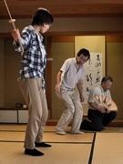 岡崎で「狂言」を楽しむ会-女性・外国人留学生も伝統文化に触れる