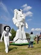 岡崎公園に「オカザえもんロボ」-高さ8メートル、足踏み歩行披露も