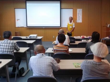 初回講座には15人の参加者を集めた