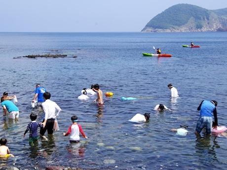 手つかずの自然が残る木佐根海岸(隠岐・知夫里島)