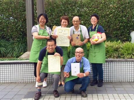 優勝したクッキー「茶葉丸」を作った、川口市の障がい者施設「晴れ晴れ」チーム