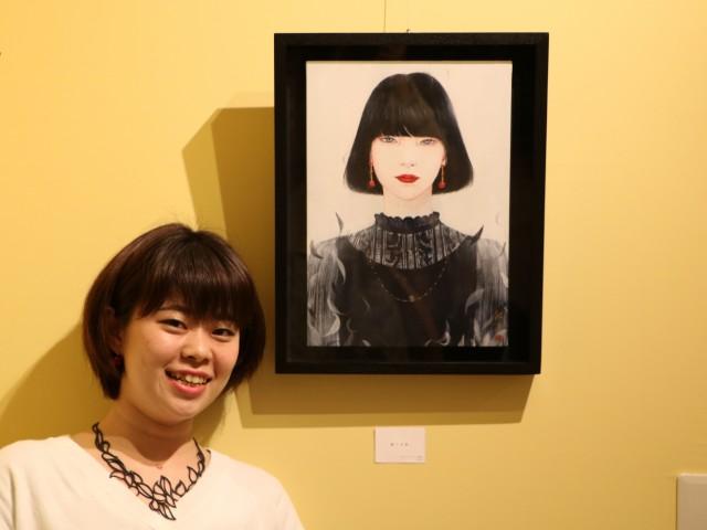 大宮出身の日本画家丁子紅子さんの個展