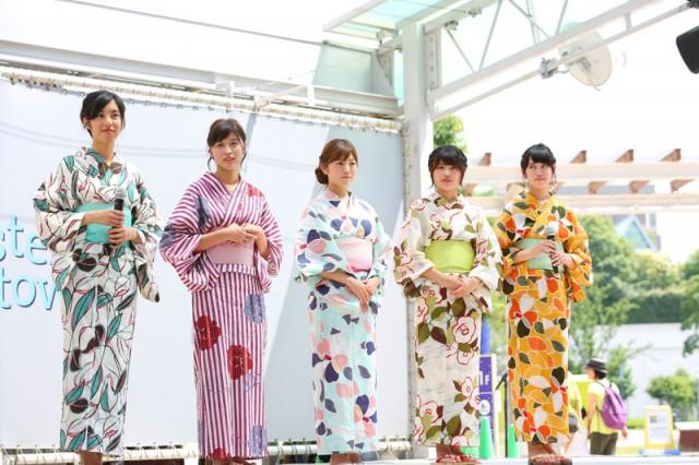 初めてのトークショーで浴衣姿で話すミス埼大コンテスト2016ファイナリストの5人