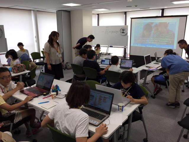 子ども向けプログラミングクラブ「CoderDojoさいたま」の様子