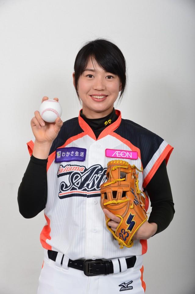 日本女子プロ野球チーム「埼玉アストライア」の川端友紀選手(写真提供=埼玉アストライア)
