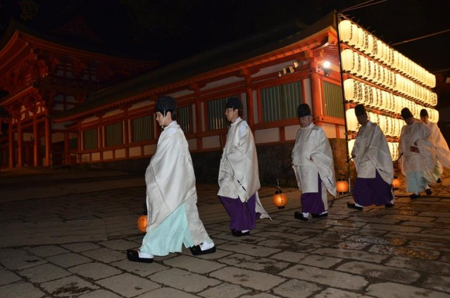 大宮の武蔵一宮氷川神社での「大湯祭」の前斎の様子(写真提供=菊池俊秀さん)