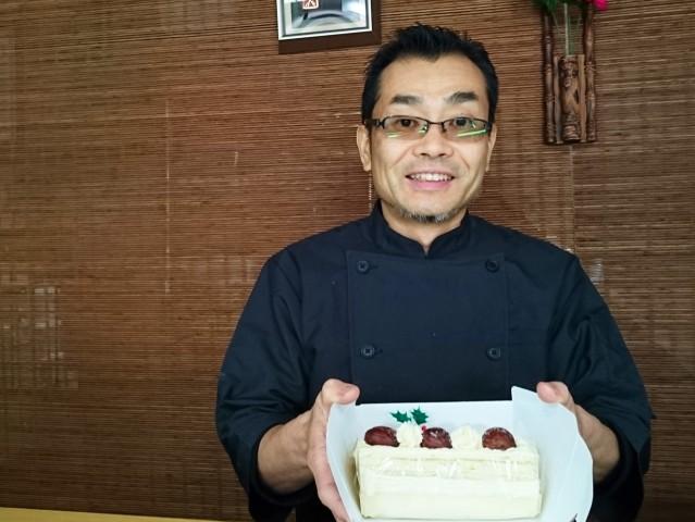 大宮の老舗和菓子店「御菓子司 小川屋」の和菓子で作ったクリスマスケーキ「和菓ノエル」