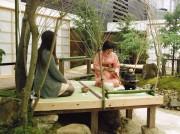 世界盆栽大会inさいたま スーパーアリーナ会場の日本庭園で茶席体験も