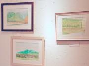 さいたまのギャラリーカフェで風景画個展 北八ヶ岳などの思い出を水彩で