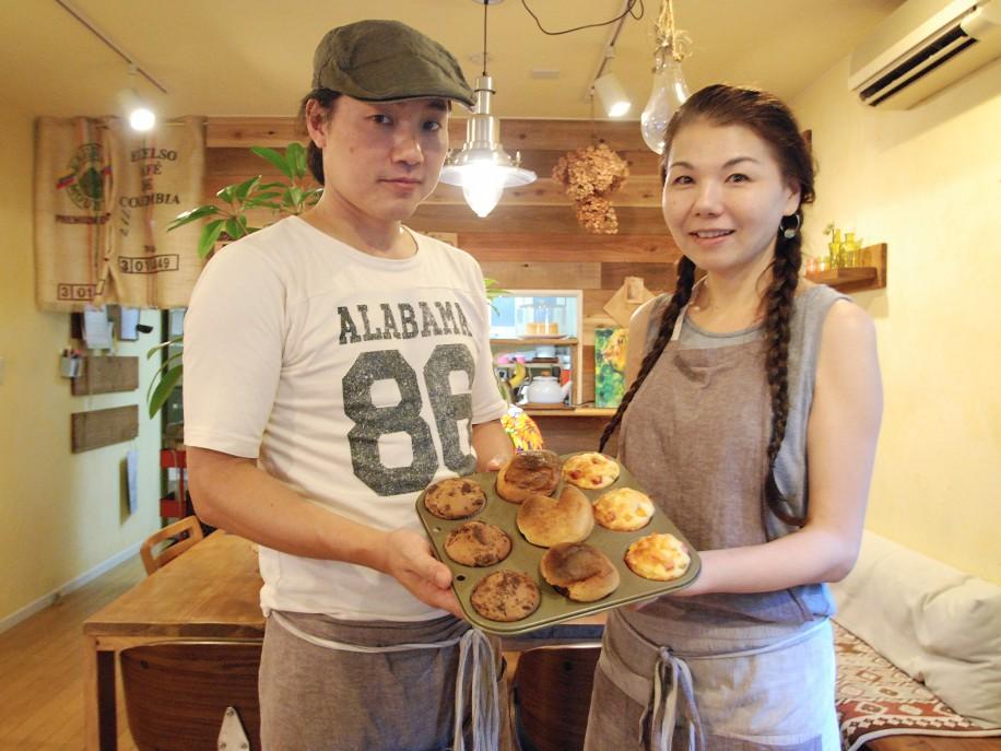 大宮「カフェ風屋」が1周年 自宅を手作りで改装、自家製マフィンも