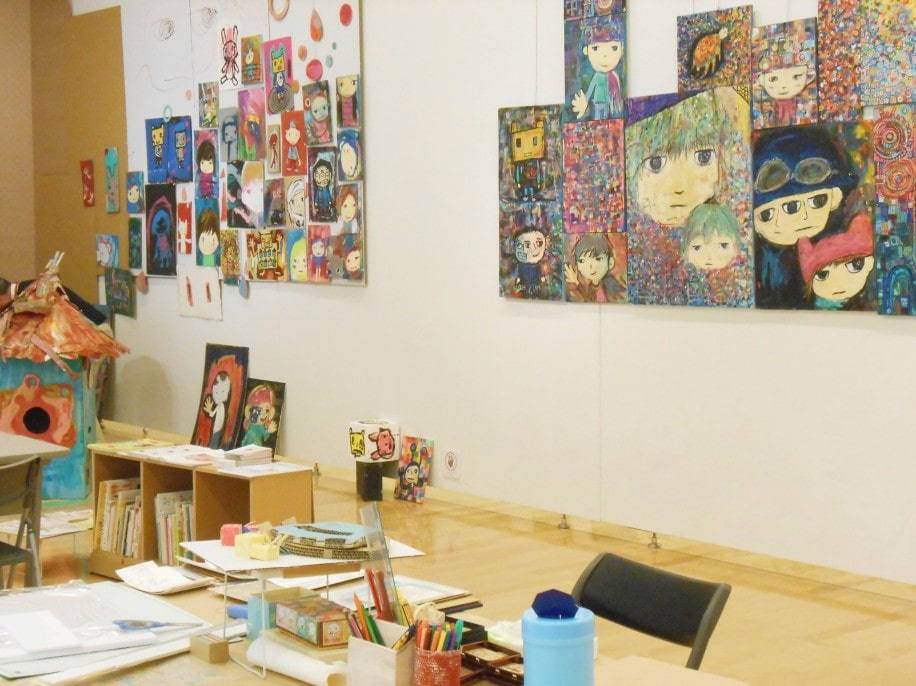 さいたまのプラザノースで開催中の「子どものきもち絵本原画展」に展示されているチアキさんの作品