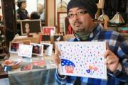 さいたまのカフェギャラリーの手作り作家展でNPO職員の絵画展示 SNS発信で話題