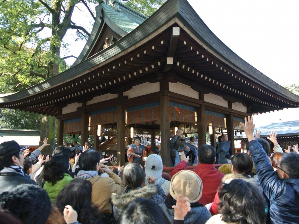 大宮の氷川神社で節分祭 土曜の大安で参拝客多めの見込み