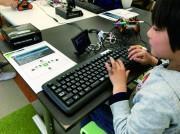 大宮でタミヤロボットスクール 子どもPC「イチゴジャム」でプログラミング