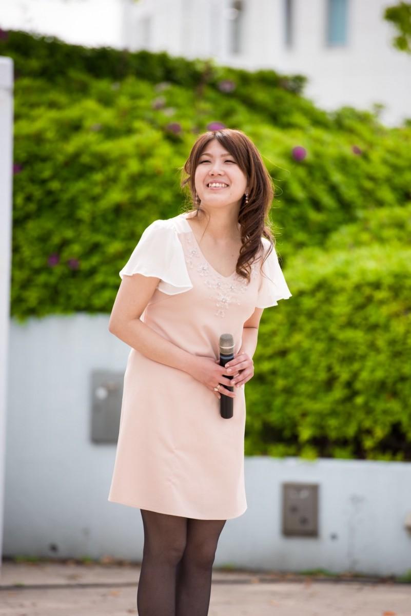 桜ライン311の応援ソングを歌うアーティストの雪音さん