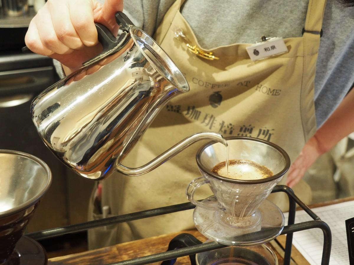 ハンドドリップで提供するコーヒー