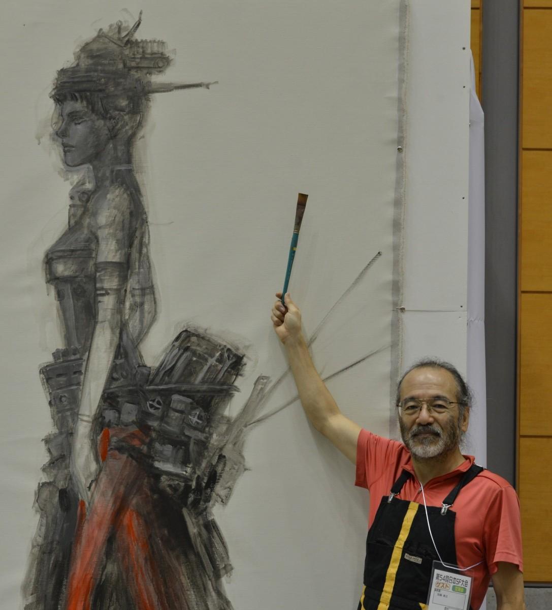 過去大会で行われた加藤直之さんのライブペインティング