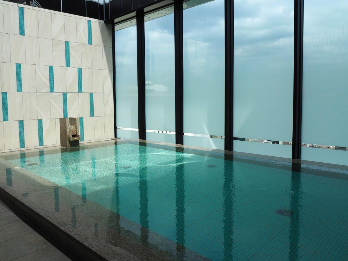 最上階の展望露天風呂「スカイスパ」