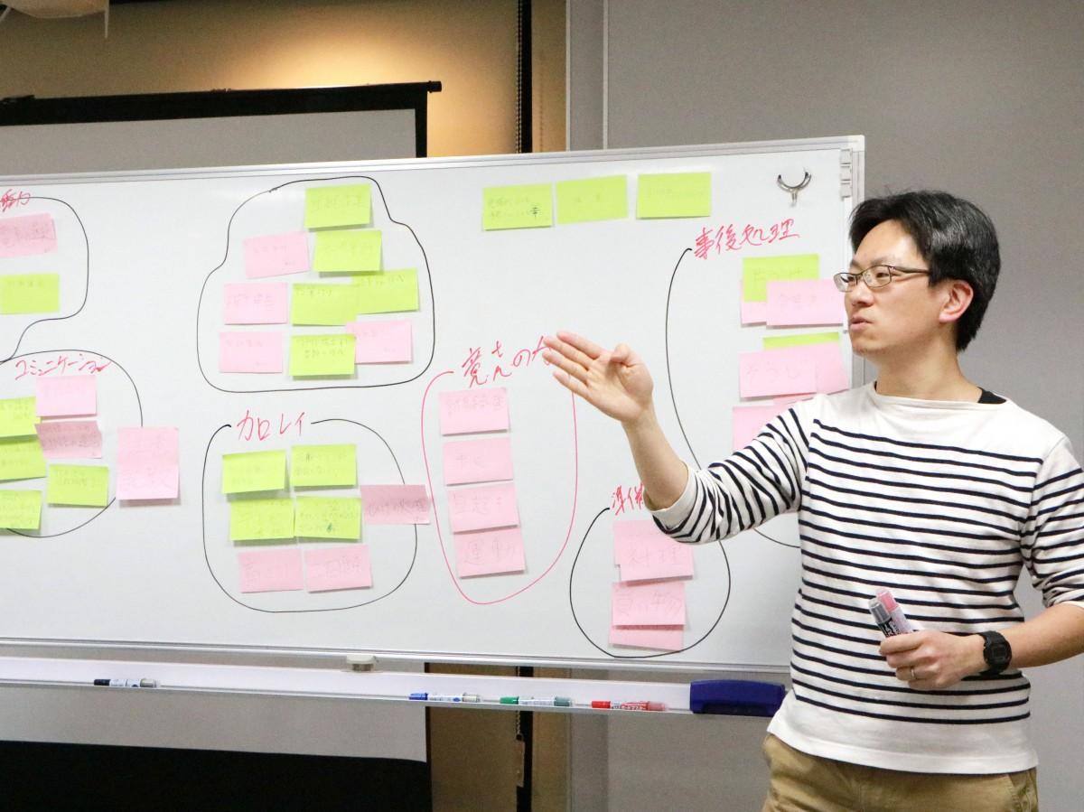 埼玉県さいたま市の地域活性化を考える勉強会でワークショップを担当する常盤さん