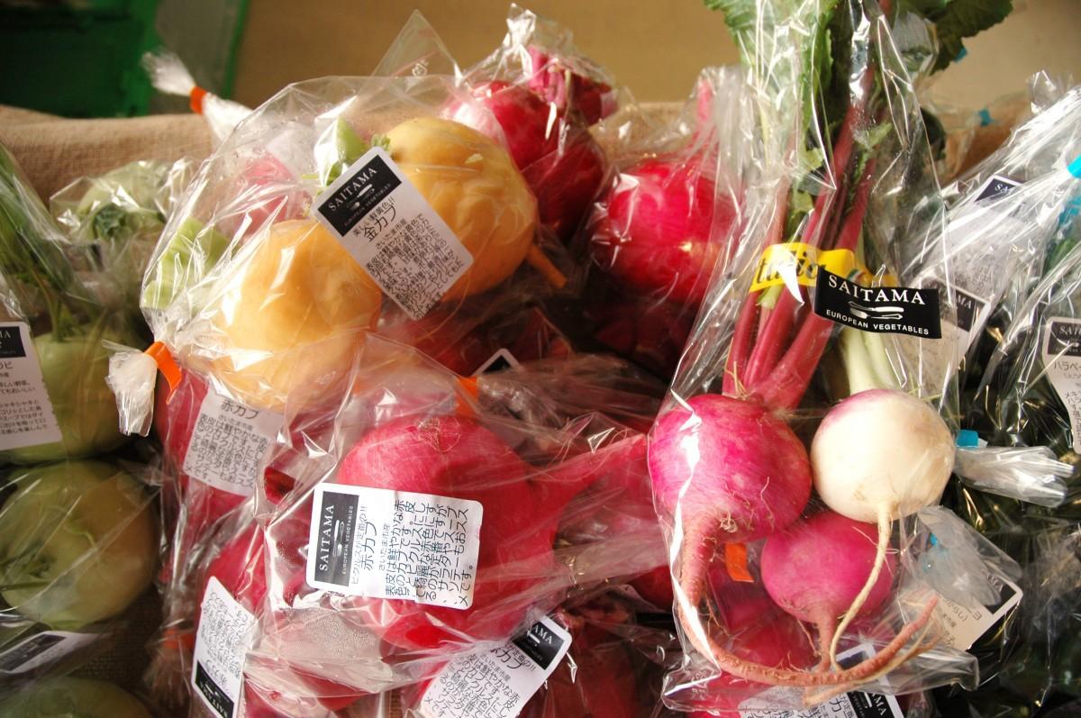 収穫祭で販売されている野菜