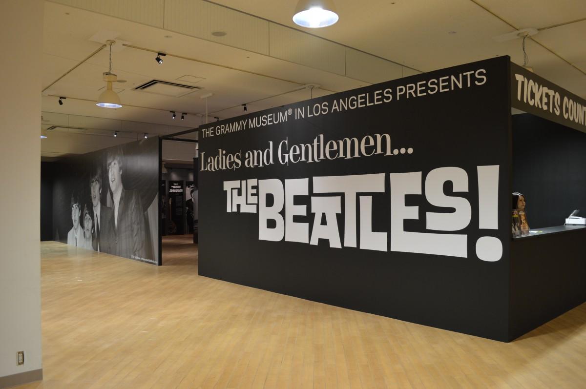 ビートルズ展の入り口