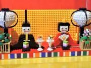 天保山レゴランドに「ひな人形」 女性ビルダーが制作、表情にこだわり