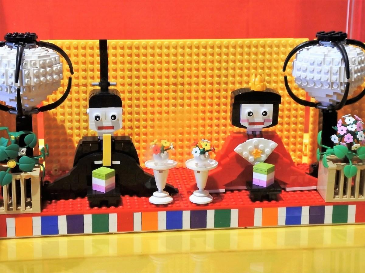 レゴで作られたお殿様とおひな様