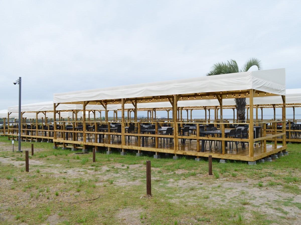 200席を増設したバーベキュースペース