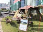 南港ATCに手ぶらBBQ場 キャンプギアはアウトドアブランドLOGOSで統一