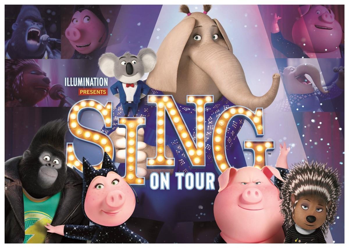 新ミュージカル・アトラクションは、アニメーション映画「SING」がテーマ(画像提供:ユニバーサル・スタジオ・ジャパン)
