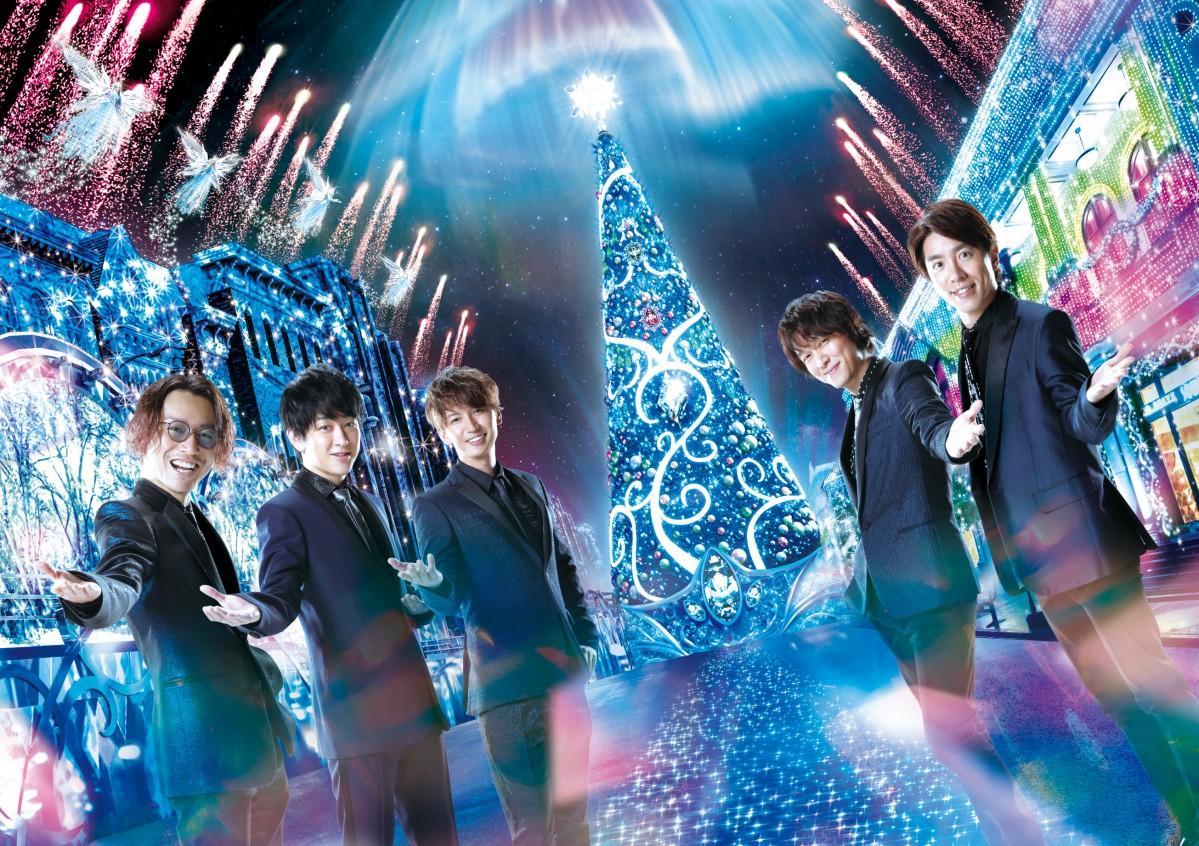「クリスタル・クリスマス・アンバサダー」に就任した関ジャニ∞(画像提供:ユニバーサル・スタジオ・ジャパン)