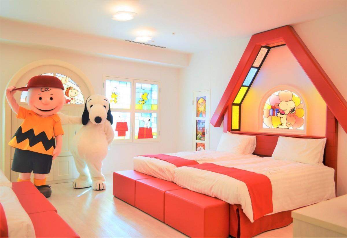オフィシャルホテルとしては初となる「ピーナッツ」コラボレーションルーム