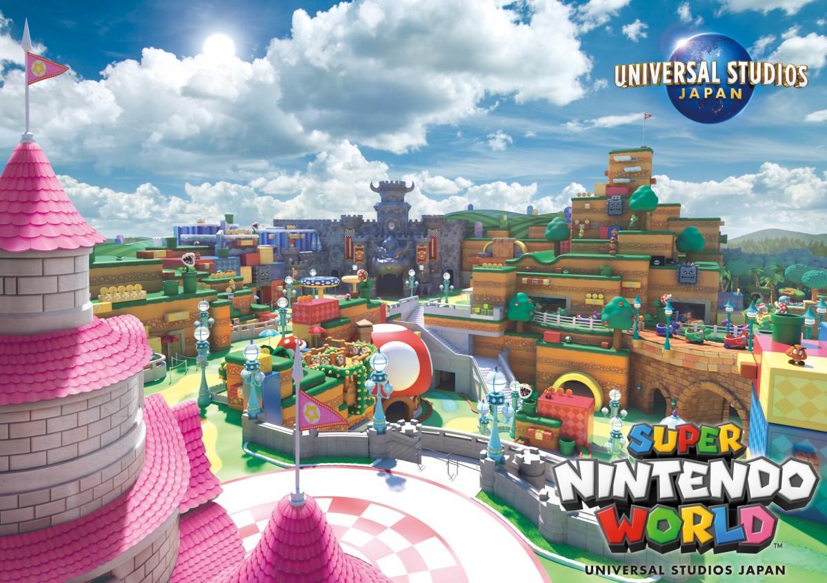 公開された新ビジュアル「SUPER NINTENDO WORLD」(画像提供:ユニバーサル・スタジオ・ジャパン)