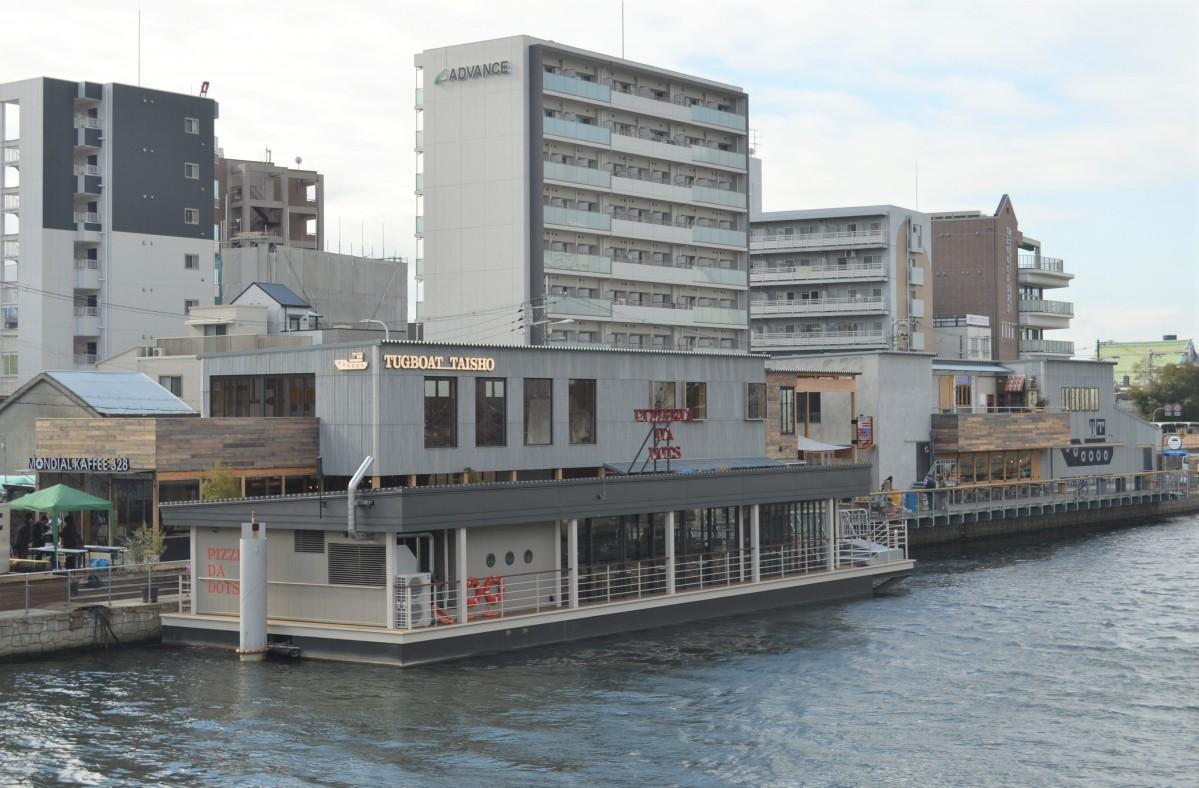尻無川河川敷に位置する「タグボート大正」