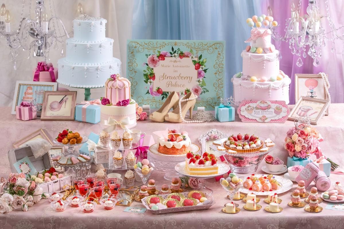 スイーツイベント「プリンセスデザートパーティー~マリーアントワネットのストロベリー宮殿~」イメージ