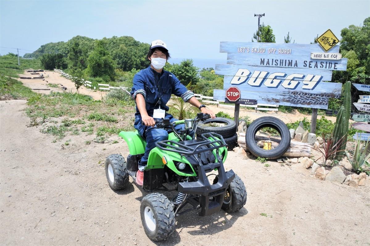 大阪市内初のバギー乗車体験施設「舞洲シーサイドバギー」