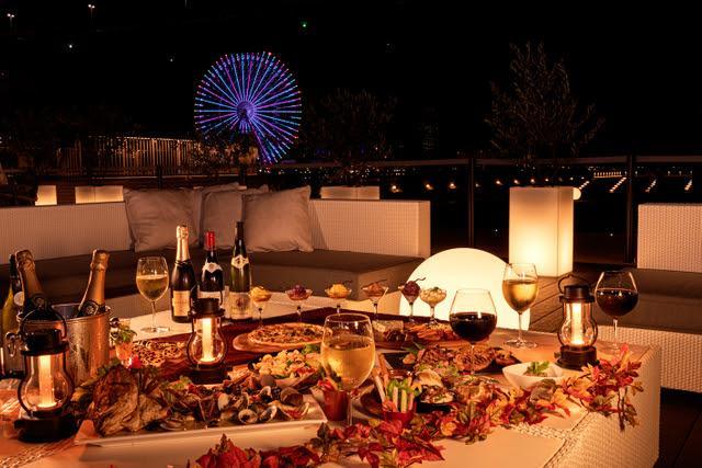 ワインや秋の味覚を楽しめるイベント「リバーサイド ワインテラス」(画像提供:リーベルホテル アット ユニバーサル・スタジオ・ジャパン)