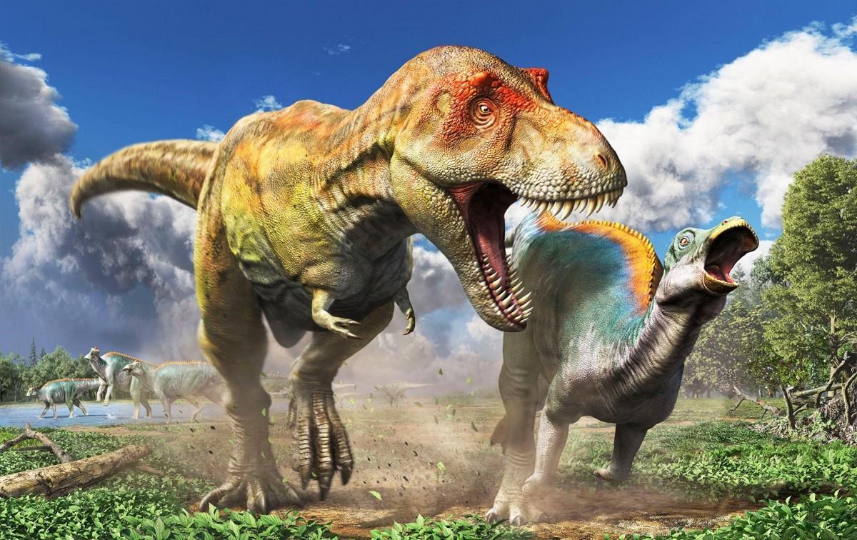 「ティラノサウルス展 ~T. rex 驚異の肉食恐竜~」復元画:月本佳代美