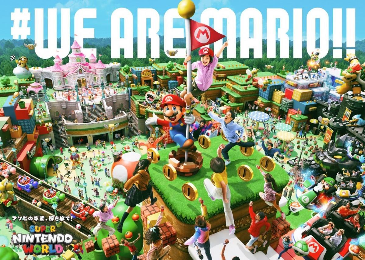 任天堂をテーマにした新エリア「スーパー・ニンテンドー・ワールド」の全体図が公開された(画像提供:ユニバーサル・スタジオ・ジャパン)