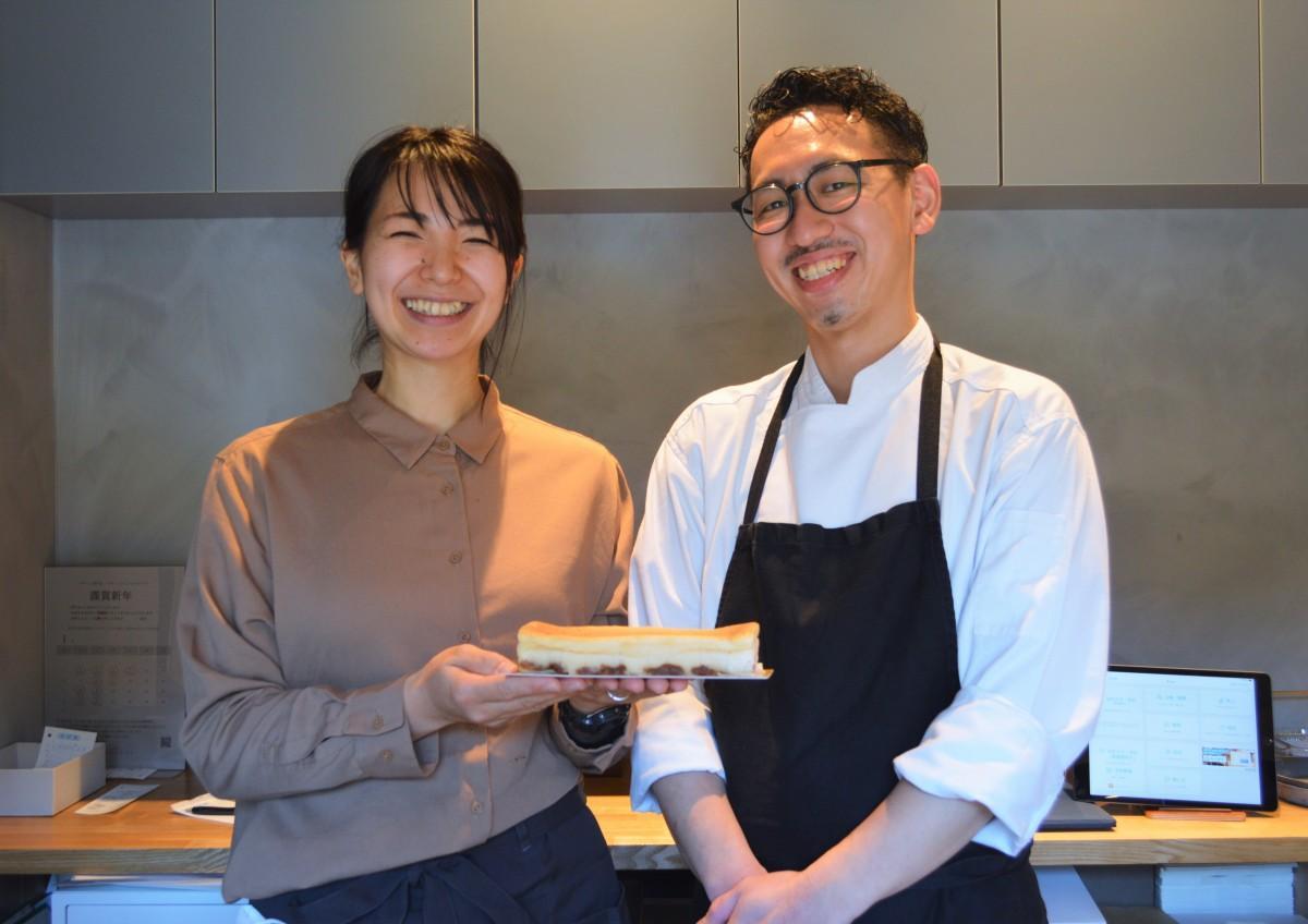 デザート専門店「デザートプレイス シキサイ」オーナーシェフの平山信行さんと妻・彩苗さん