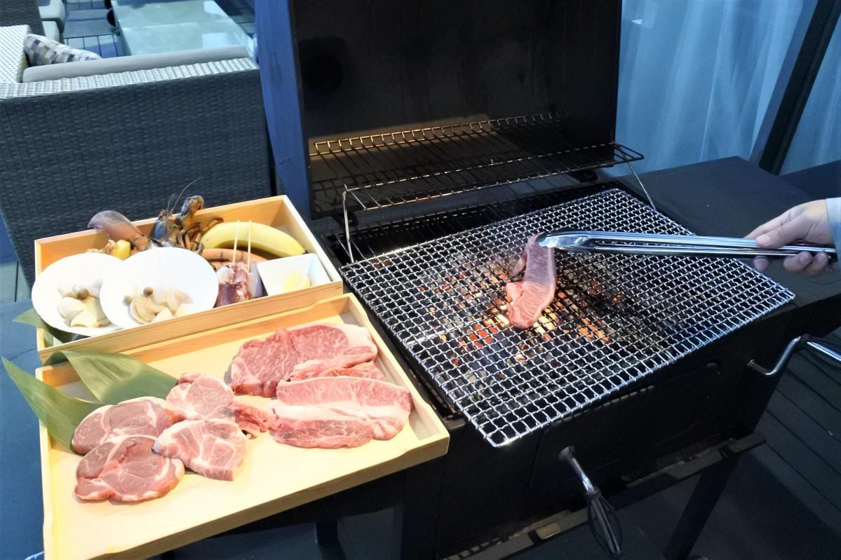 手ぶらで本格的な炭火のバーベキューが楽しめる「アゴーラ BBQ テラス 2021」
