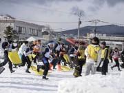 小樽で国際スポーツ雪かき選手権 雪かきサミットも同時開催
