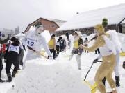 小樽で「雪かきサミット」 国際スポーツ雪かき選手権5周年記念し開催