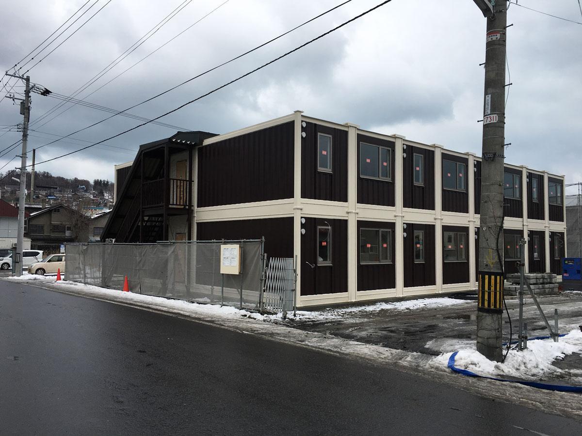 能島通りに建設中のホテル