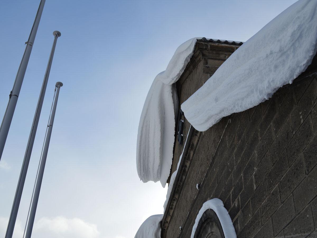 雪が積もる小樽市内(2014年1月の様子)