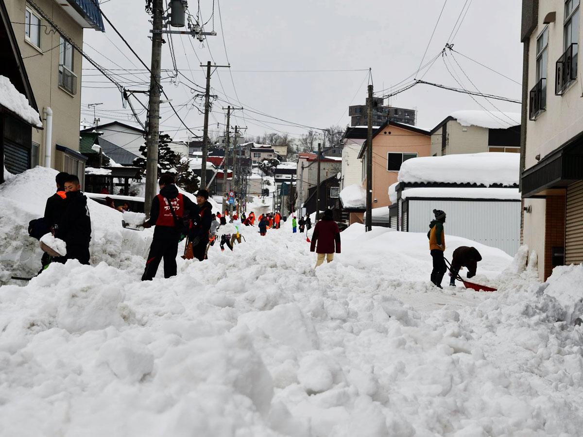 過去の「スポーツ雪かき」の様子