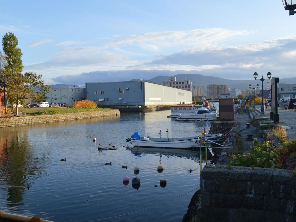 小樽運河の様子