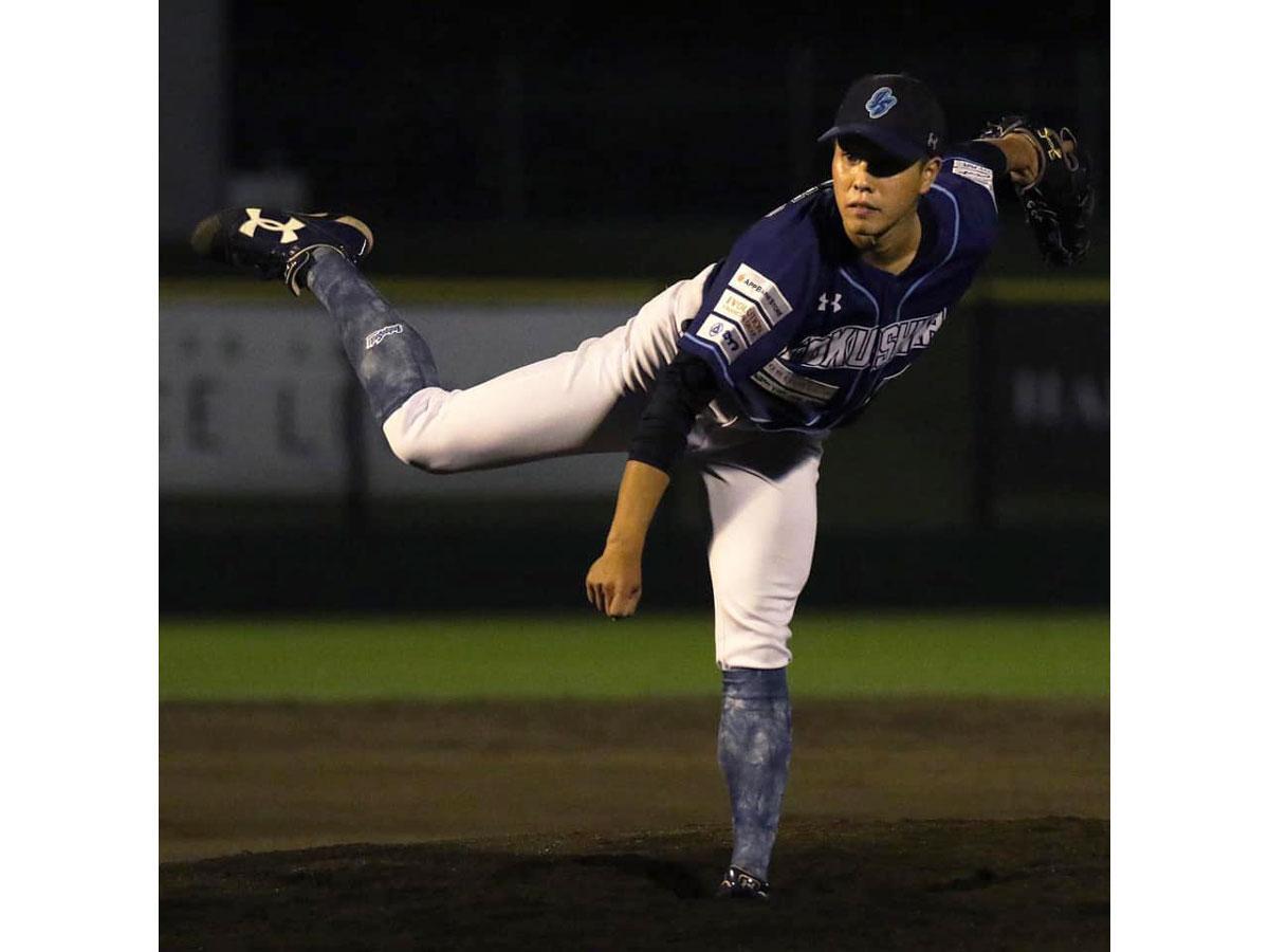 亀山英輝投手(画像提供=徳島インディゴソックス)