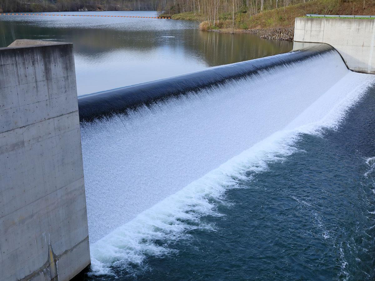 赤井川村の落合ダム