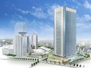 赤坂五丁目TBS開発計画、オフィスと商業施設棟を上棟